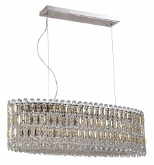 Светильник подвесной Crystal Lux LIRICA SP10 L900 CHROME/GOLD-TRANSPARENT