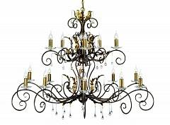 Подвесная люстра Elstead Lighting AMARILLI AML15 BR/GLD
